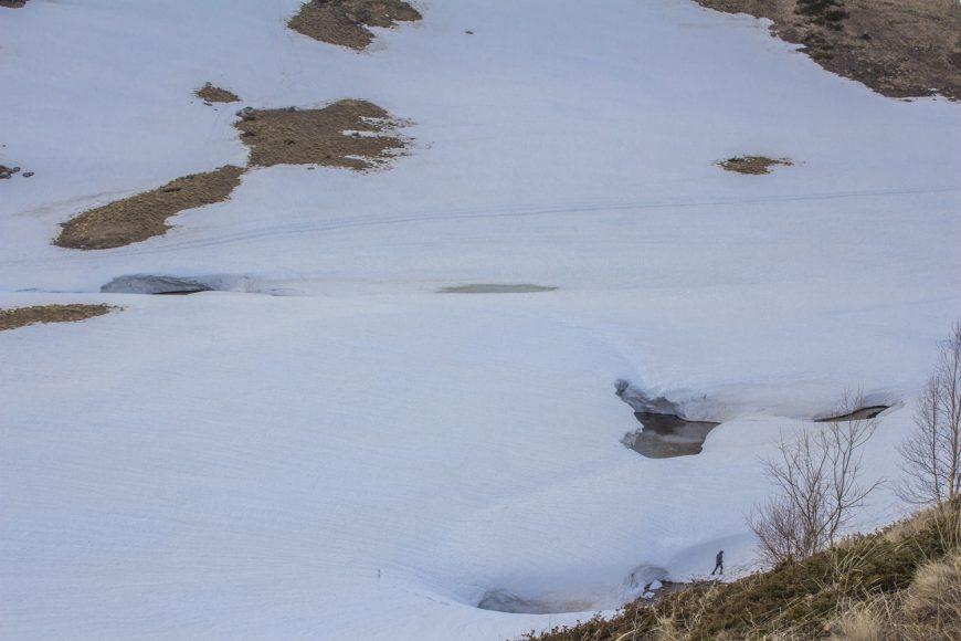 Озеро Псенодах под снегом