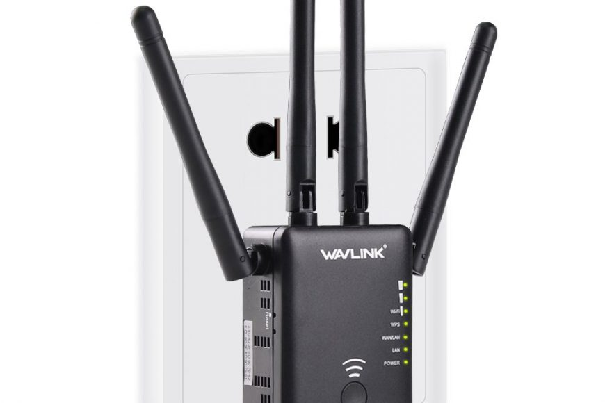 WAVLINK AC1200 WiFi Range Extender/Access Point/Wireless Router Dual Band with 4 High Gain External Antennas WPS Protection-Black