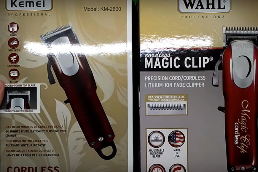Дешёвая подделка машинки для стрижки волос Wahl Magic Clip Cordless