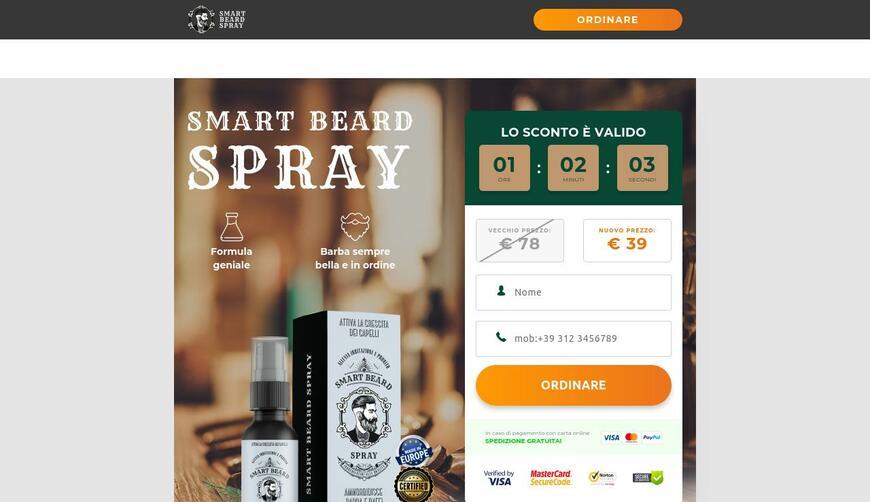 Smart Beard Spray — спрей для роста волос головы и бороды. Осторожно! Обман!!!