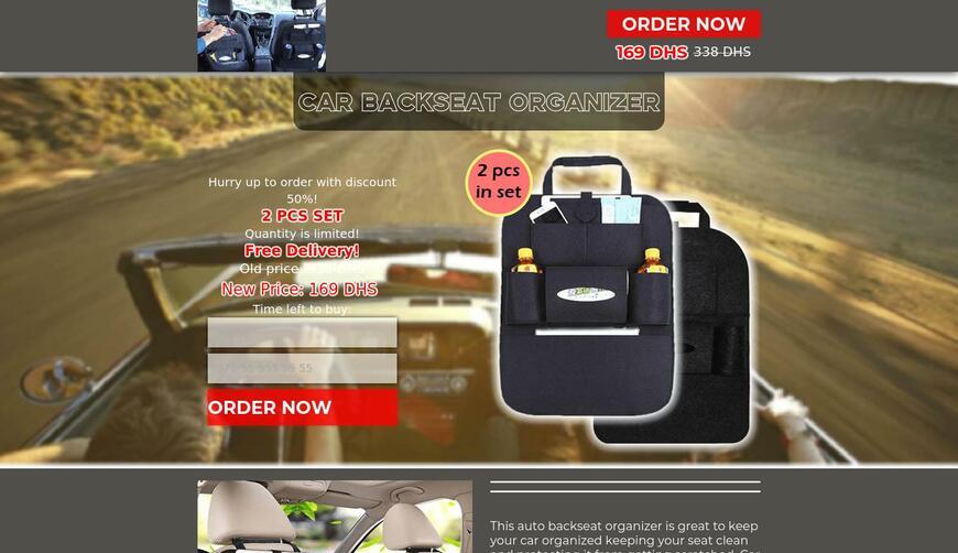 Car Backseat organizer — органайзер на спинку сиденья автомобиля. Осторожно! Обман!!!