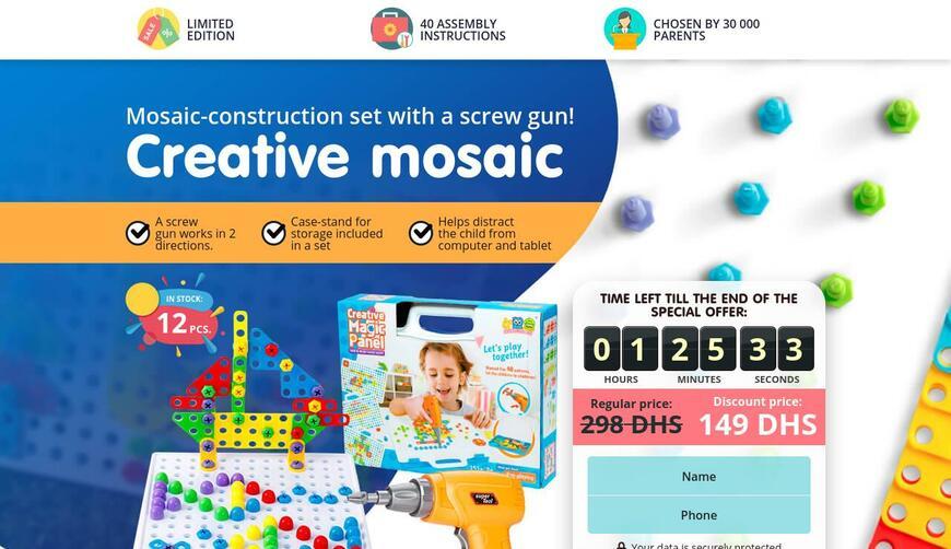 Конструктор-мозаика с шуруповертом Creative Mosaic. Осторожно! Обман!!!