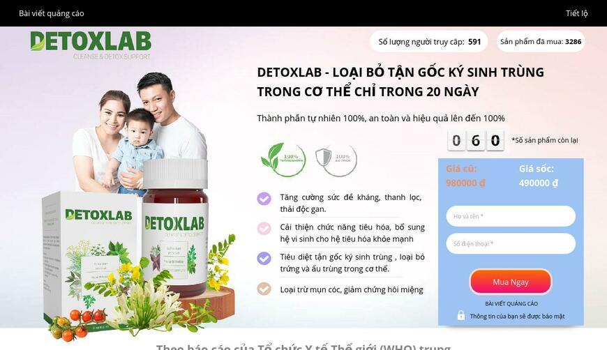 Detoxlab — средство от паразитов. Осторожно! Обман!!!