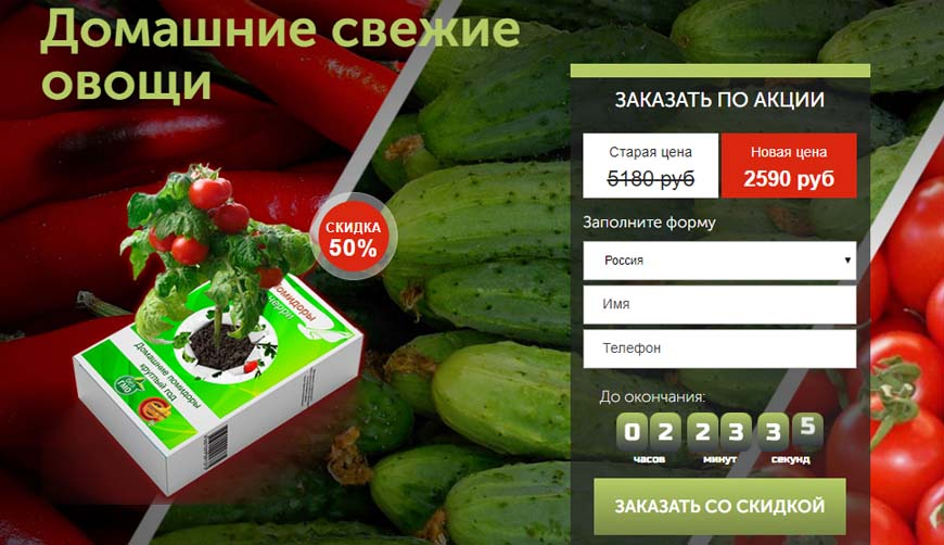 Домашние свежие овощи за 147 и 2590р. — Обман!