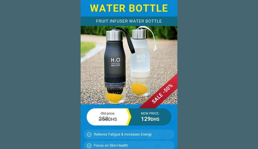 FRUIT INFUSER — бутылка для воды. Осторожно! Обман!!!