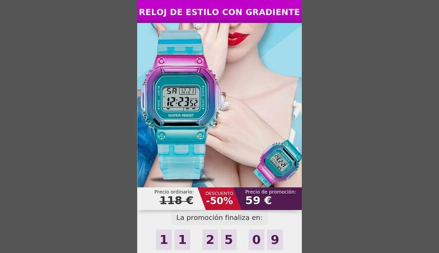 Gradient Watch — часы с градиентным цветным циферблатом. Осторожно! Обман!!!