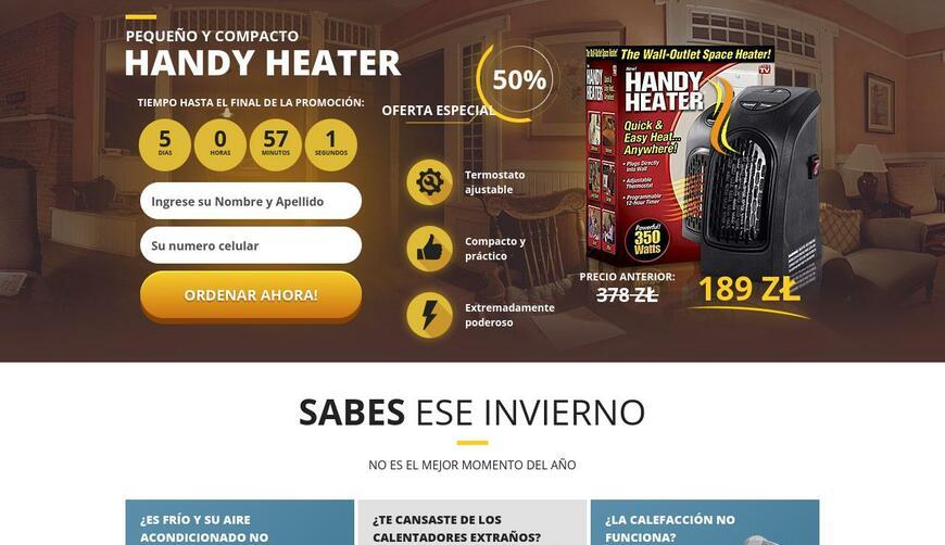 Handy Heater — ручной обогреватель. Осторожно! Обман!!!