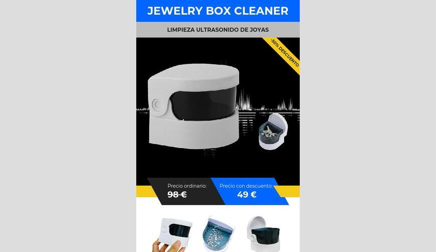 Jewelery Box Cleaner — ультразвуковая чистка ювелирных изделий. Осторожно! Обман!!!