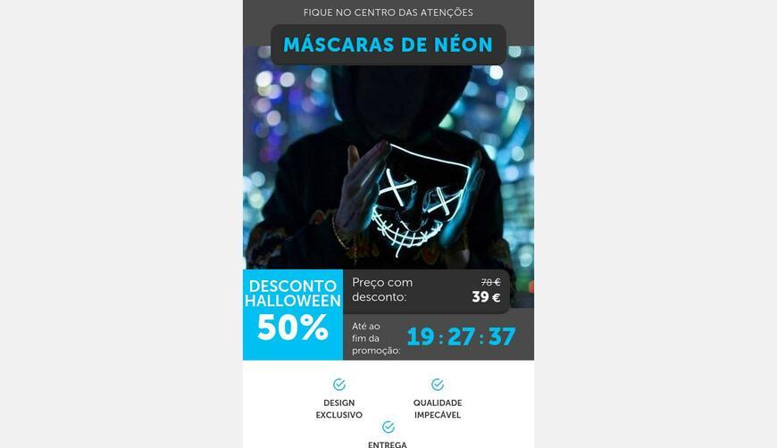 Neon Mask — неоновые маски на Хэллоуин. Осторожно! Обман!!!