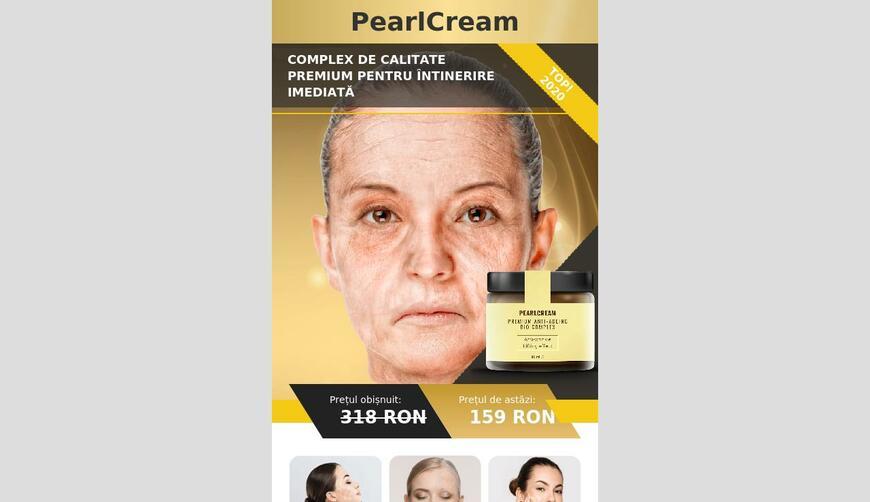 Pearl Cream — препарат для немедленного омоложения. Осторожно! Обман!!!