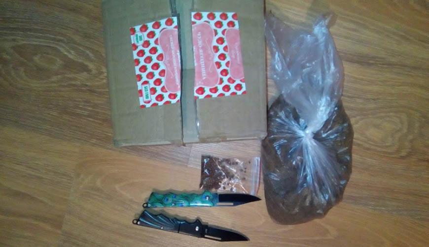Прислали 2 перочинных ножичка, пакет с песком и пакетик семян похожие на редис за 4300 рублей.