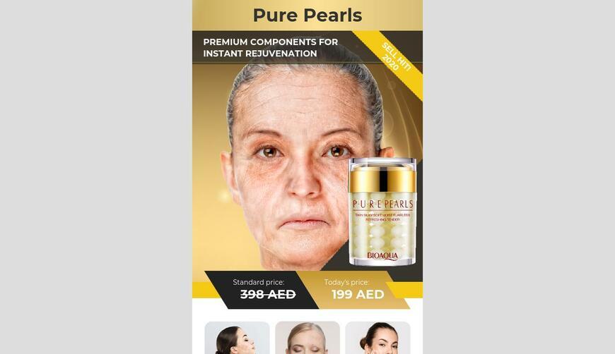 Pure Pearls — биоактивный комплекс от морщин. Осторожно! Обман!!!