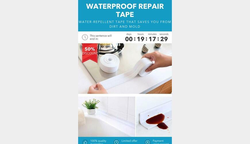 WATERPROOF REPAIR TAPE — водозащитная ремонтная лента. Осторожно! Обман!!!