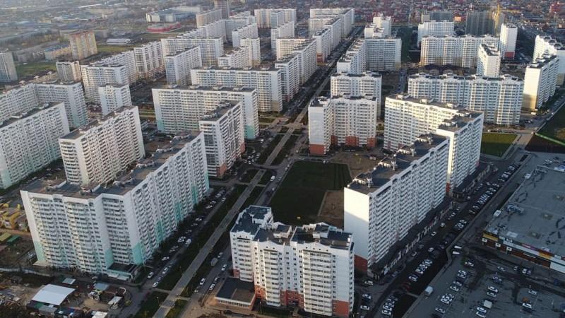 Общий вид микрорайона «Московский» в Краснодаре